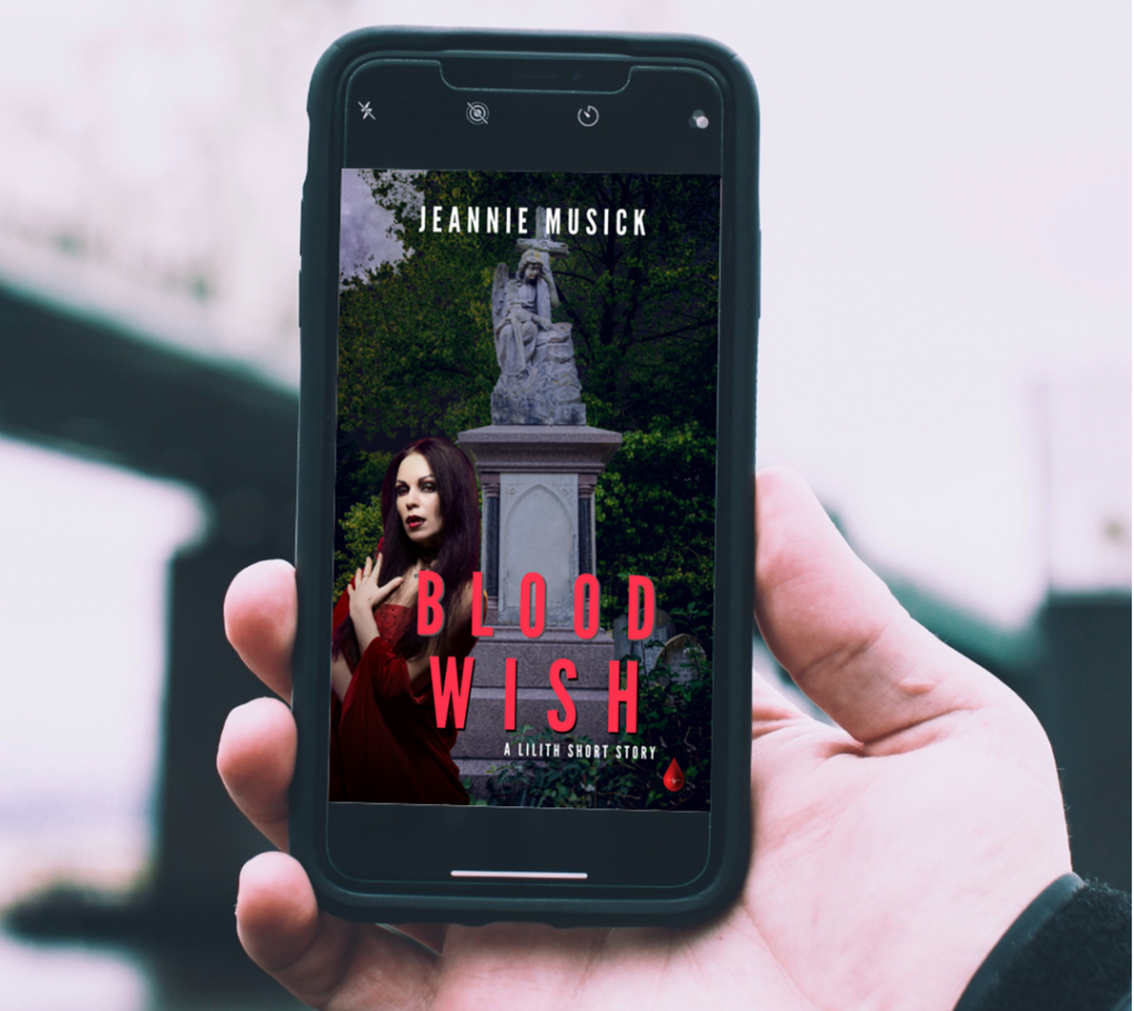 """Blood Wish"" eBook on Smart Phone"